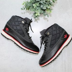 Adidas Originals Fur Lined Shoes Size W-8 Or M-7